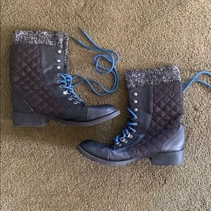 GG Leather Combat Boots